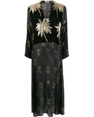 Свободное платье макси с вырезом Ailanto