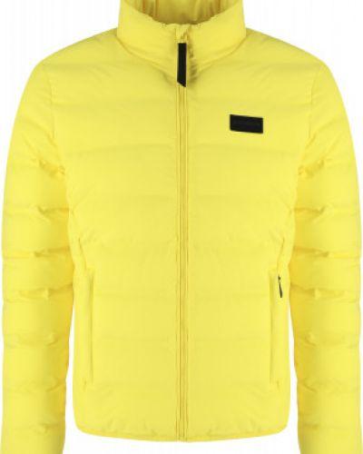 Прямая утепленная желтая куртка Icepeak