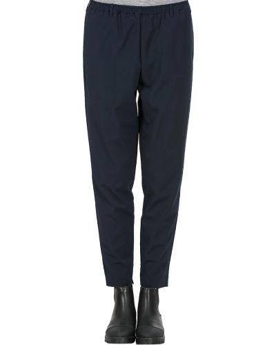 Брюки из вискозы - синие Armani Jeans