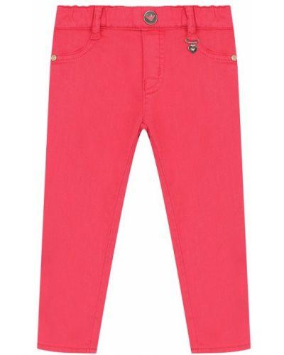 Джинсы-скинни стрейч розовый Armani Junior