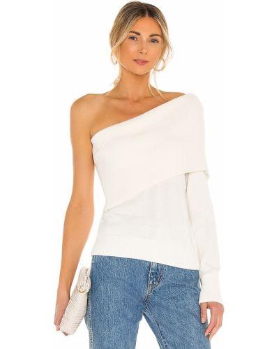 Кашемировый белый свитер на одно плечо 525