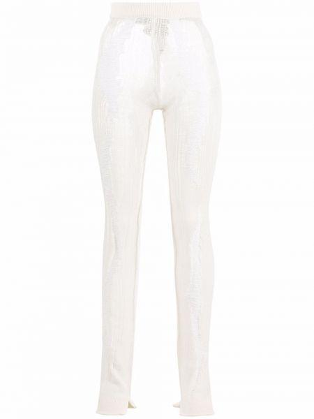 Хлопковые белые зауженные брюки Mrz