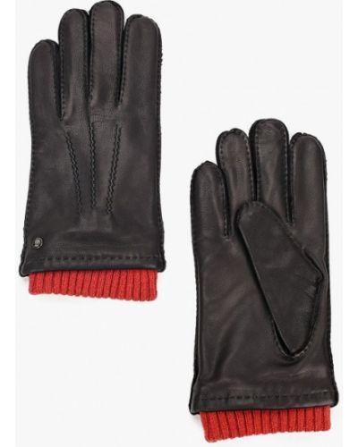 Кожаные черные перчатки Roeckl