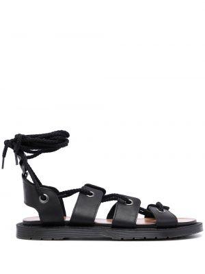 Czarne sandały skorzane sznurowane Dr. Martens
