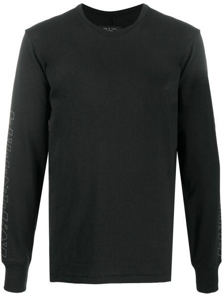 Bawełna bawełna czarny top okrągły dekolt Rag & Bone