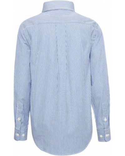 Джинсовая рубашка в полоску американский Ralph Lauren Kids