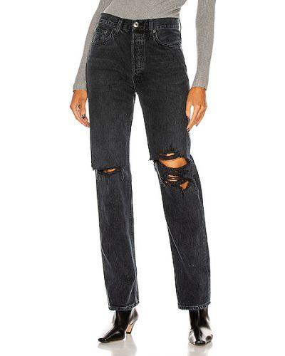 Czarne jeansy bawełniane vintage Agolde