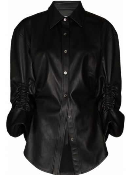 Czarna koszula skórzana Alexander Wang