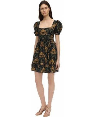 Платье с вышивкой с кружевными рукавами Agua By Agua Bendita