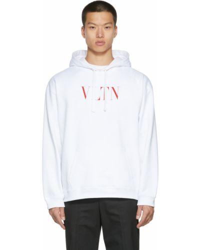 Белое худи с капюшоном Valentino