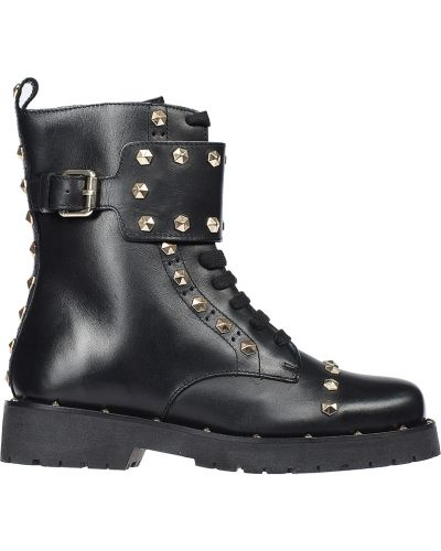 Кожаные ботинки осенние Twin-set