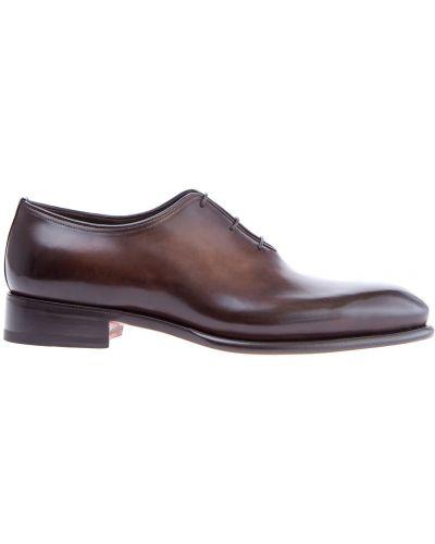 Туфли на шнуровке итальянские Santoni