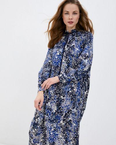 Прямое синее платье А-силуэта Gant