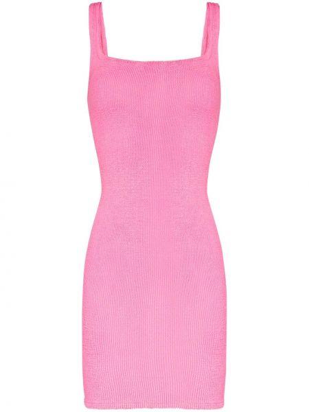 Платье без рукавов - розовое Hunza G