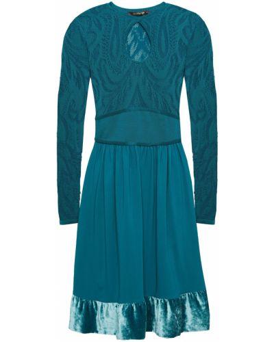 Бархатное платье мини Roberto Cavalli
