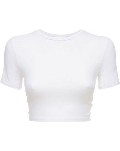 Biała t-shirt Adam Selman Sport