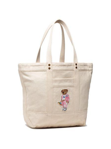 Beżowa torebka Polo Ralph Lauren