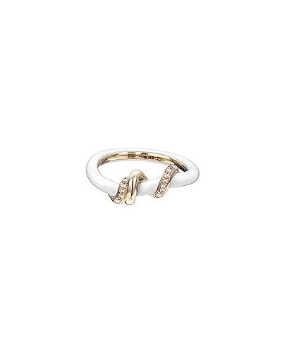 Biały złoty pierścionek Bea Bongiasca