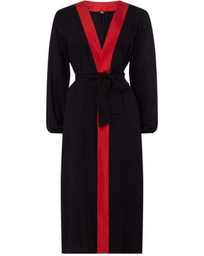 Czarne kimono z wiskozy Karl Lagerfeld Beachwear