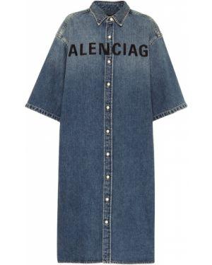 Платье миди джинсовое платье-майка Balenciaga