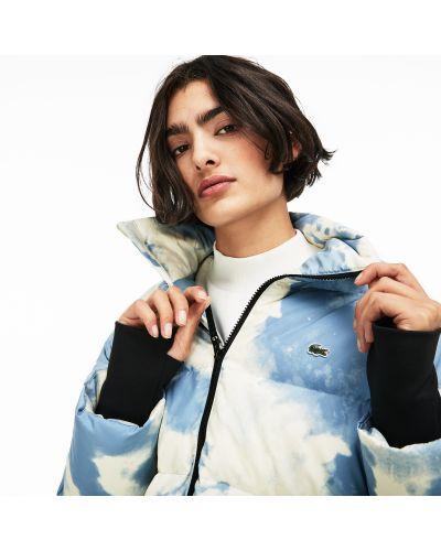 Куртка с капюшоном утепленная с вышивкой Lacoste