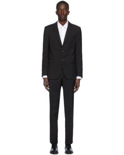 Шерстяной черный брючный брючный костюм Lanvin