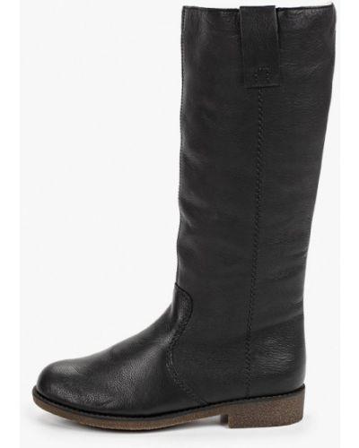 Кожаные черные ботинки осенние Rieker