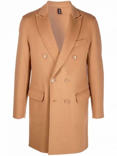 Beżowy płaszcz wełniany Palto