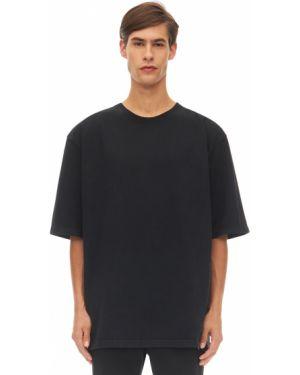 T-shirt bawełniana - czarna Warren Lotas