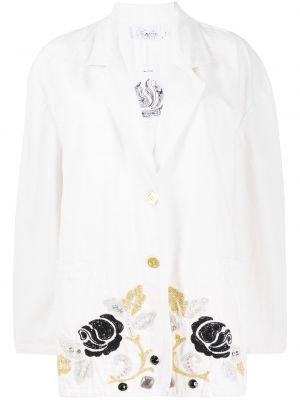 Однобортный белый пиджак с карманами A.n.g.e.l.o. Vintage Cult