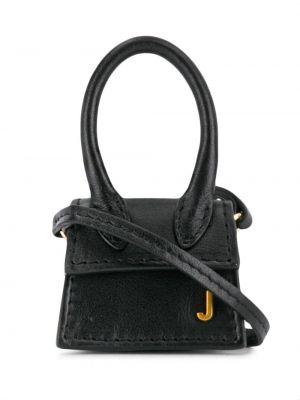 Z paskiem czarny mini torebka z prawdziwej skóry Jacquemus