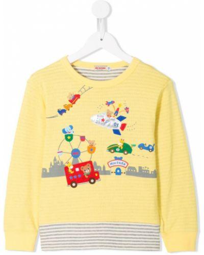 Желтая футболка Miki House
