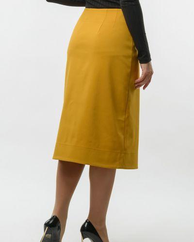 Костюмная юбка с запахом на пуговицах Remix