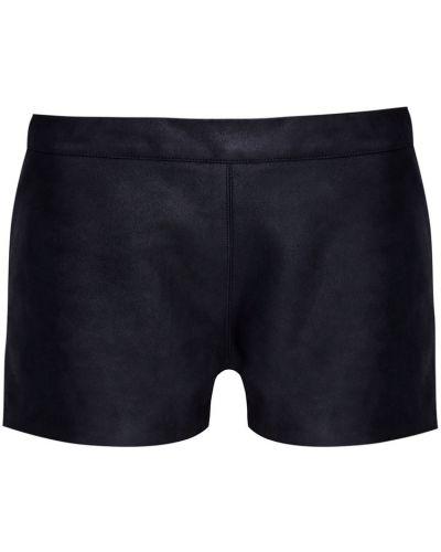 Кожаные черные короткие шорты Gareth Pugh