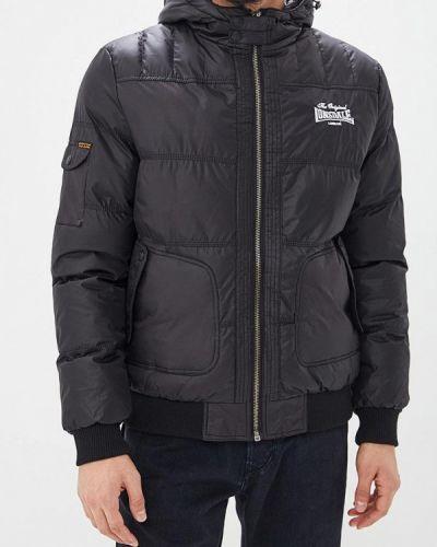 Утепленная куртка черная осенняя Lonsdale