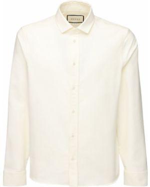 Koszula oxford z kołnierzem z mankietami Gucci