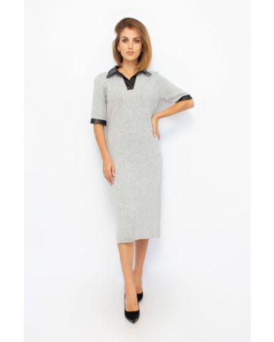 Шерстяное платье - серое Dilvin