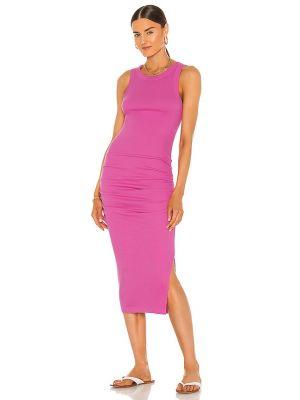 Хлопковое платье миди - розовое Michael Stars