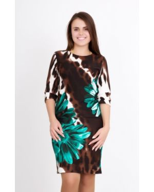 Повседневное платье леопардовое с цветочным принтом Lika Dress