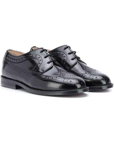 Buty brogsy skórzany czarny Gallucci