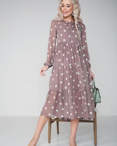 Повседневное шифоновое с рукавами платье Valentina