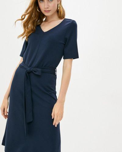 Прямое синее платье Tom Tailor