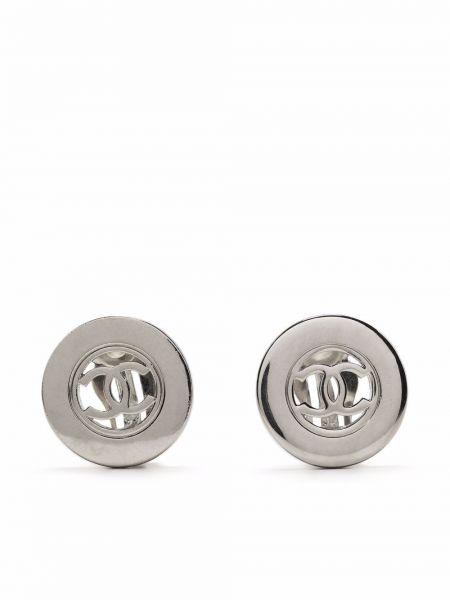 Kolczyki srebrne Chanel Pre-owned