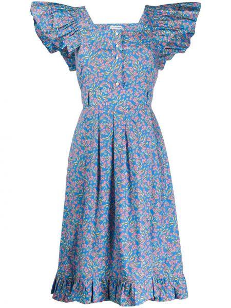 Платье миди на пуговицах с оборками Paco Rabanne