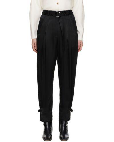 Брючные черные брюки с карманами с манжетами 3.1 Phillip Lim