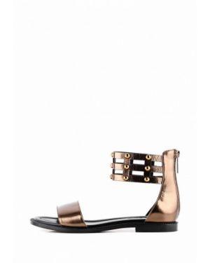 Кожаные сандалии золотые Sasha Fabiani