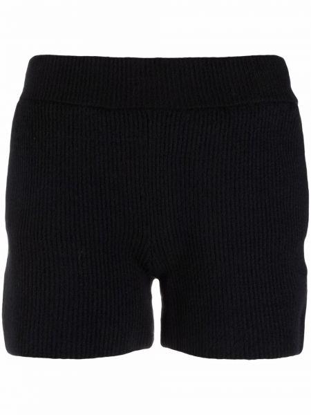 Трикотажные черные шорты с поясом Helmut Lang
