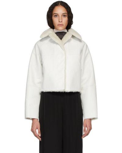 Длинное пальто бежевое без воротника Kassl Editions