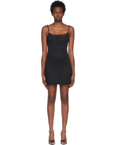 Платье мини короткое - черное Balmain