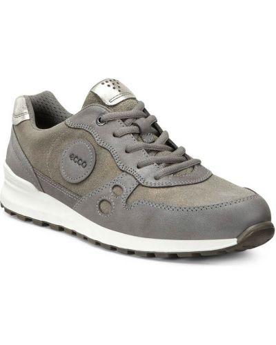 Кожаные кроссовки замшевые текстильные Ecco